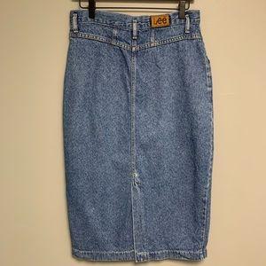 Vintage LEE Women's Denim Jean Skirt 14
